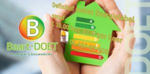 Baart-DOET energie- en bouwadvies regio Zwolle energielabel definitief maken energiebesparen energieverlie beperken bespaar milieu minder CO2 woning huis pand bestaand en nieuwbouw vastgoed