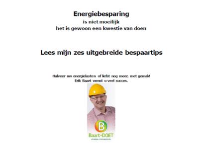 Energie besparen gratis tips