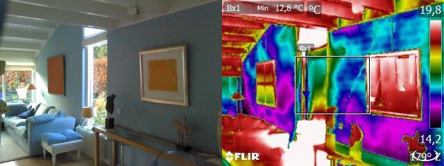 Een woonruimte testen op warmtelekkage met de warmtescan