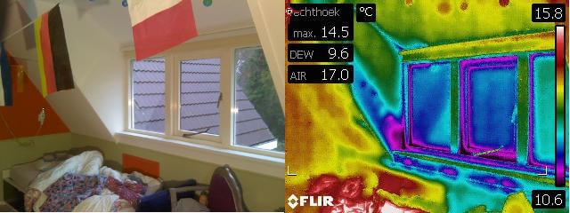 Resultaten thermgrafisch onderzoek of warmtescan