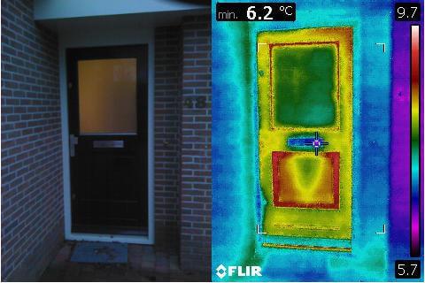Warmteverlies aantonen met een warmtescan of thermografisch onderzoek